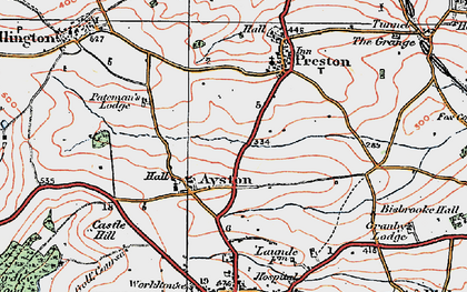 Old map of Ayston in 1921