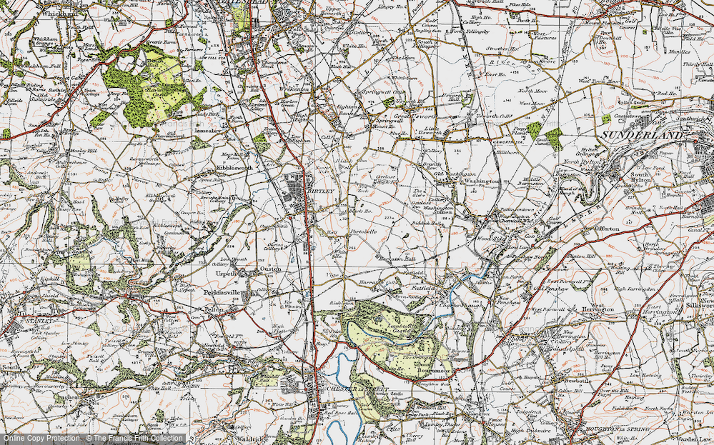Old Map of Ayton, 1925 in 1925