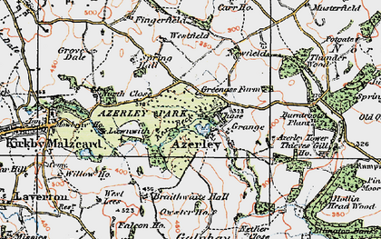 Old map of Azerley in 1925