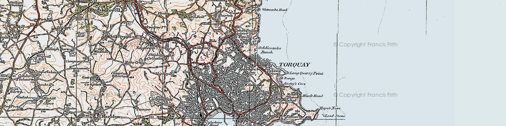 Old map of Babbacombe in 1919