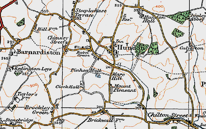 Old map of Babel Green in 1921