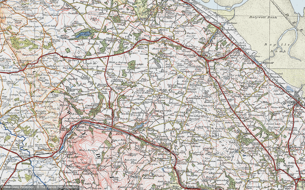Old Map of Babell, 1924 in 1924