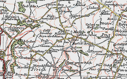 Old map of Babell in 1924