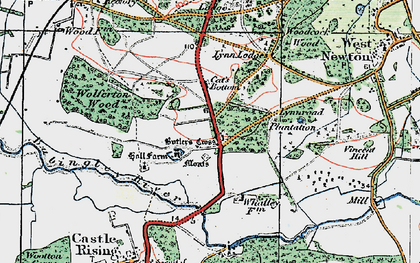 Old map of Babingley River in 1922