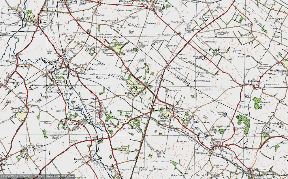 Old Map of Babraham, 1920 in 1920
