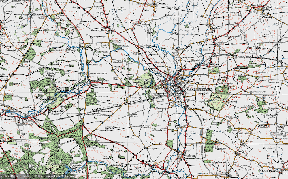 Old Map of Babworth, 1923 in 1923