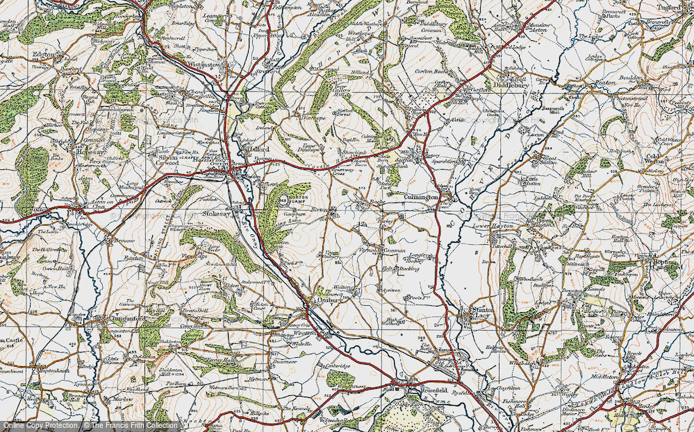 Old Map of Bache, 1920 in 1920