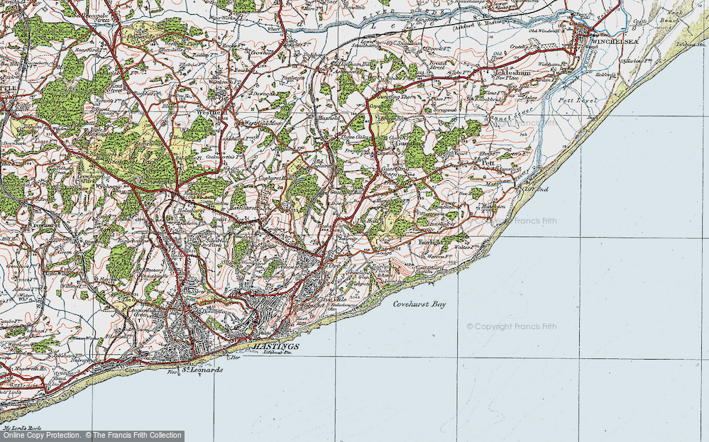 Old Map of Bachelor's Bump, 1921 in 1921