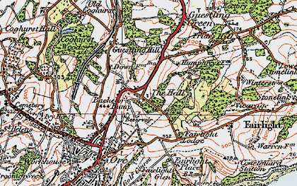 Old map of Bachelor's Bump in 1921