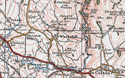 Old map of Back o'th' Brook in 1921