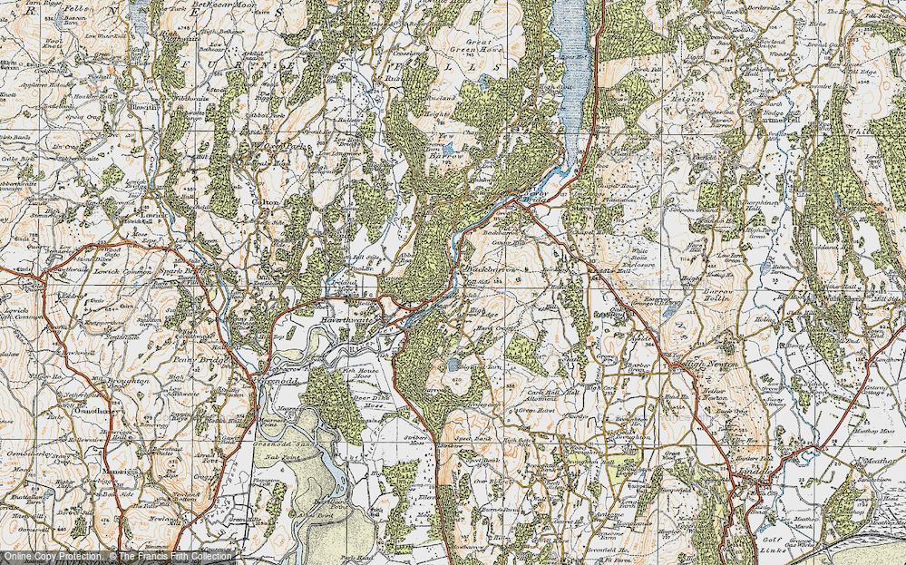 Old Map of Backbarrow, 1925 in 1925
