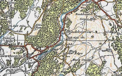 Old map of Backbarrow in 1925