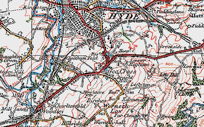 Old map of Backbower in 1923