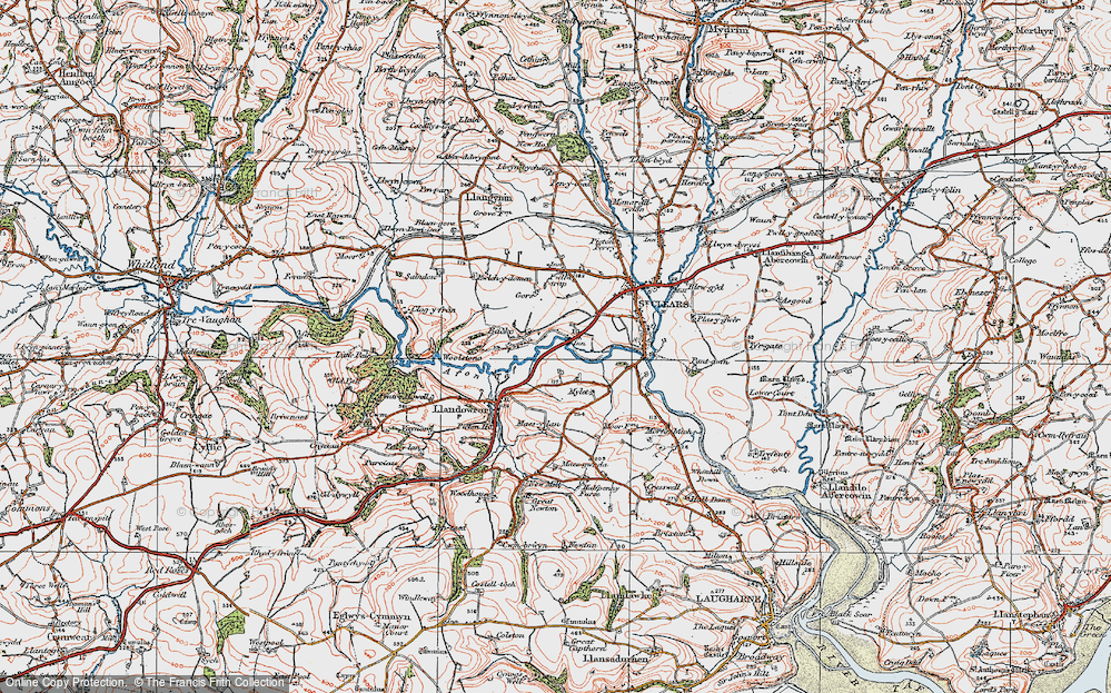 Old Map of Backe, 1922 in 1922