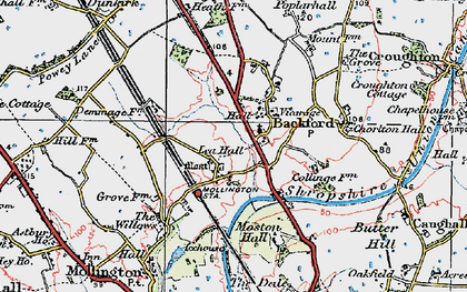 Old map of Backford in 1924