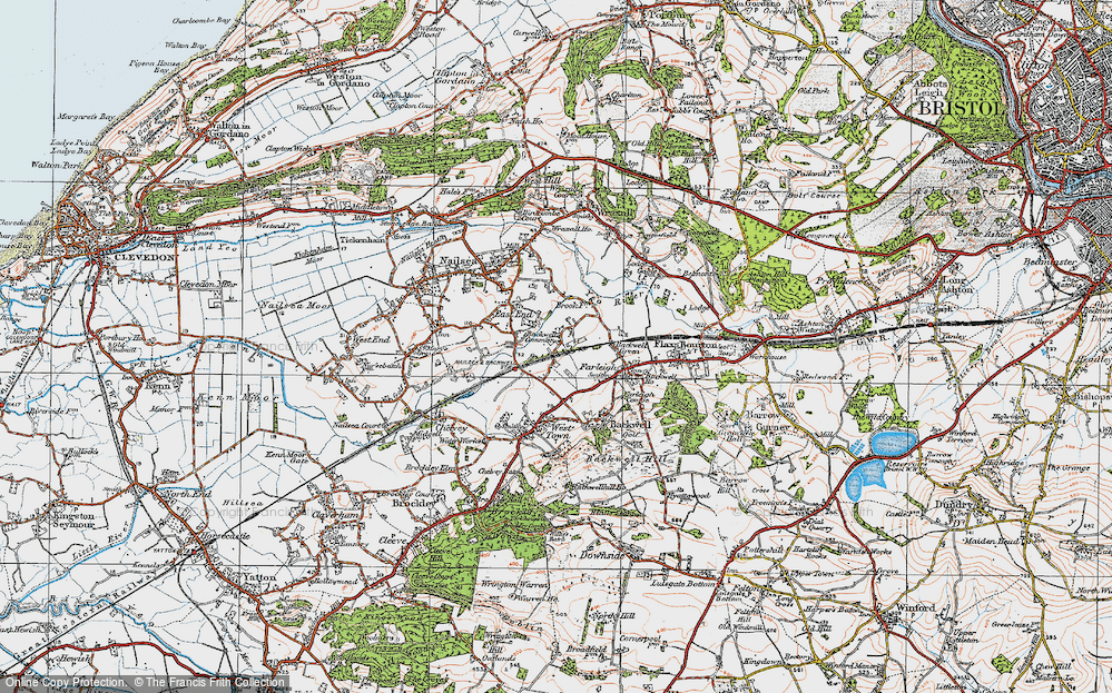 Old Map of Backwell Common, 1919 in 1919