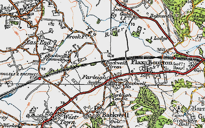 Old map of Backwell Green in 1919