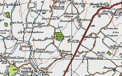 Old map of Baconend Green in 1919