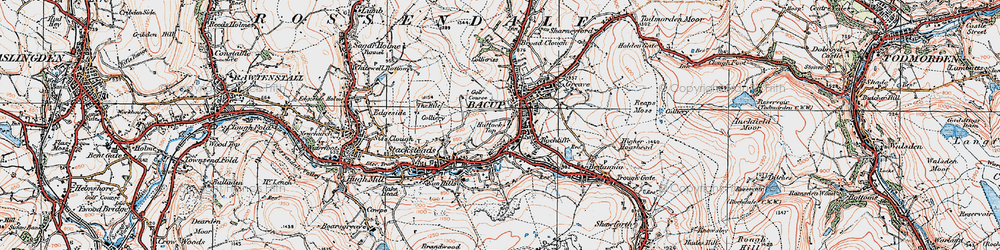 Old map of Bacup in 1924