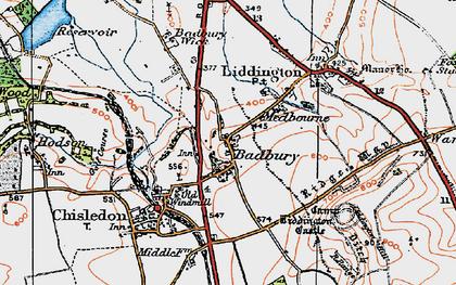 Old map of Liddington Castle in 1919