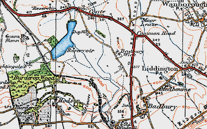 Old map of Badbury Wick in 1919