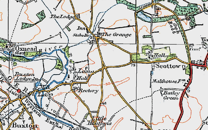 Old map of Badersfield in 1922