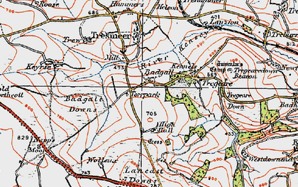 Old map of Badgall in 1919