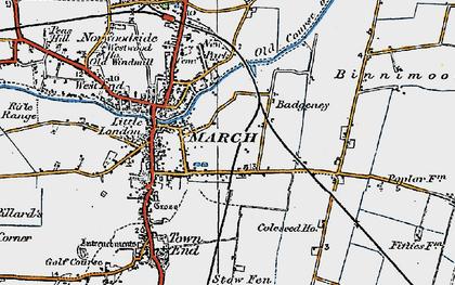 Old map of Badgeney in 1922