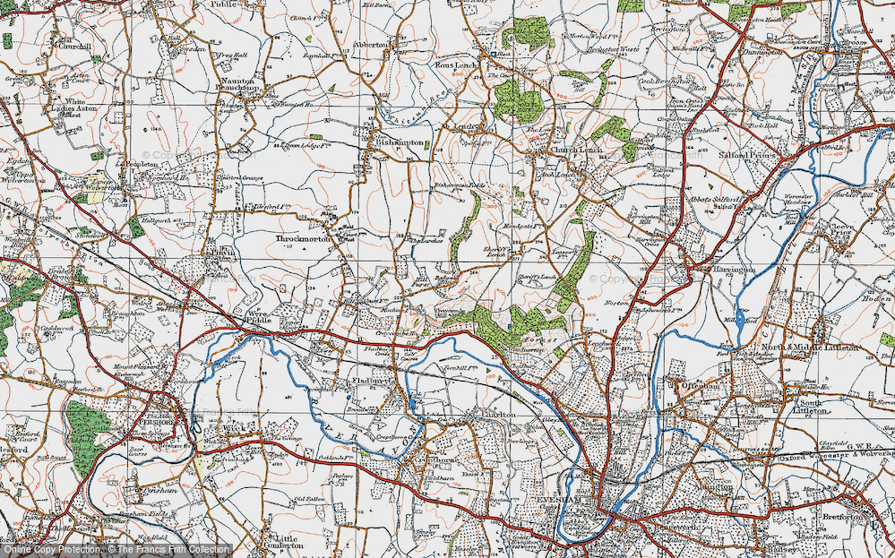 Old Map of Badger's Hill, 1919 in 1919
