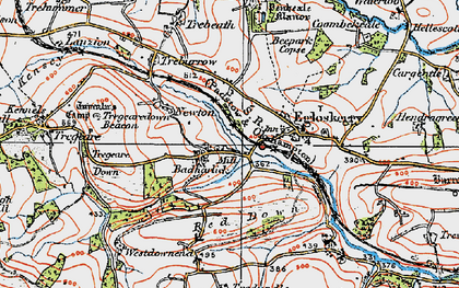 Old map of Badharlick in 1919