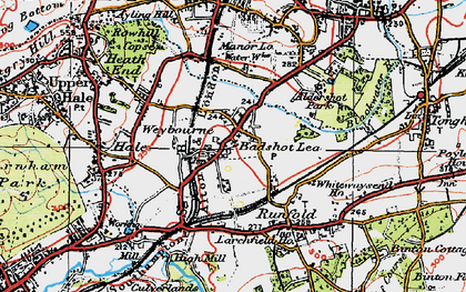 Old map of Barfield (sch) in 1919
