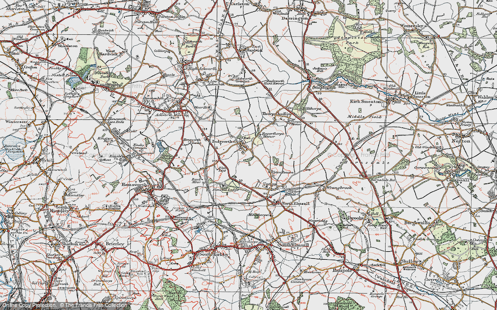 Old Map of Badsworth, 1925 in 1925