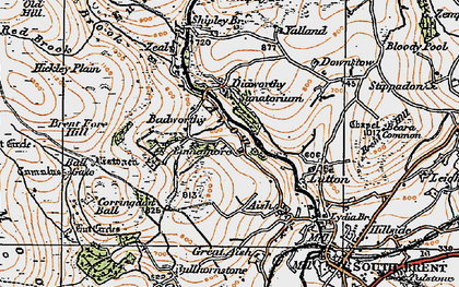Old map of Ball Gate in 1919