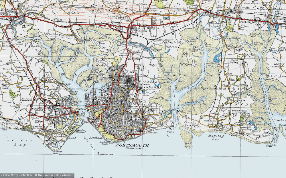 Old Map of Baffins, 1919 in 1919