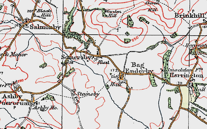 Old map of Bag Enderby in 1923