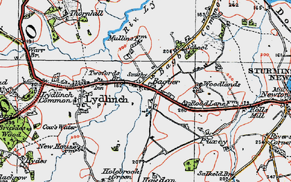Old map of Bagber in 1919