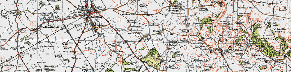 Old map of Abbot's Close in 1925