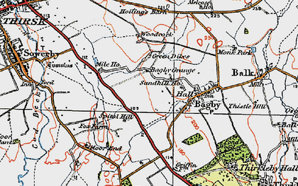 Old map of Bagby Grange in 1925