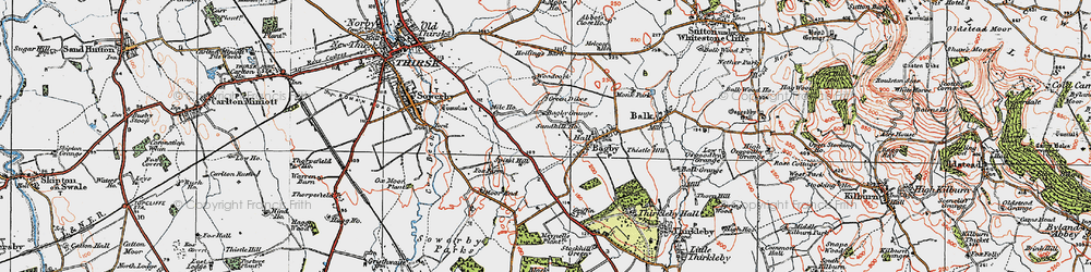Old map of Woodcock in 1925