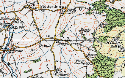 Old map of Bagginswood in 1921