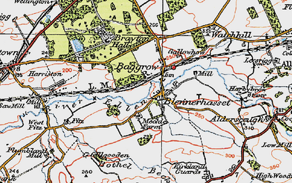 Old map of Baggrow in 1925