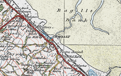 Old map of Bagillt in 1924