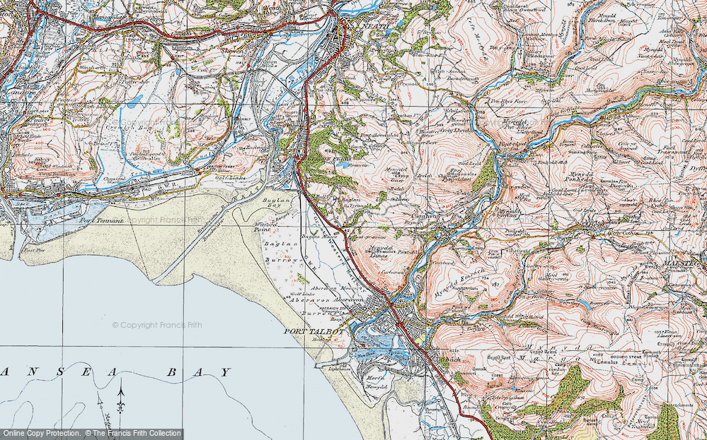 Old Map of Baglan, 1922 in 1922