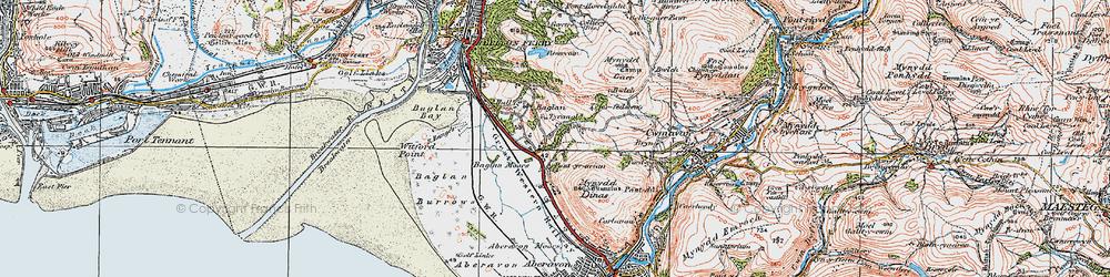 Old map of Baglan in 1922