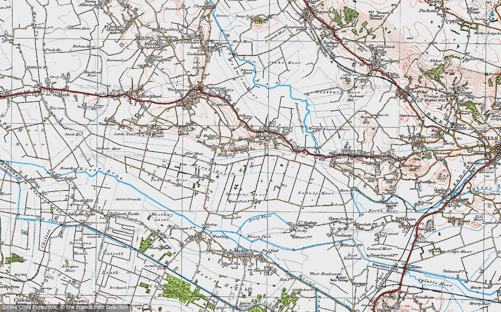 Old Map of Bagley, 1919 in 1919