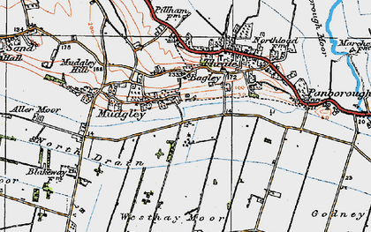 Old map of Bagley in 1919