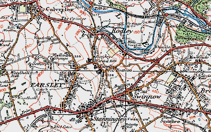 Old map of Bagley in 1925