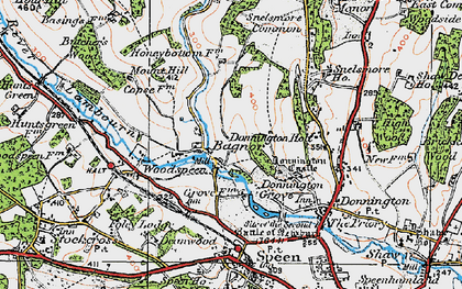 Old map of Bagnor in 1919