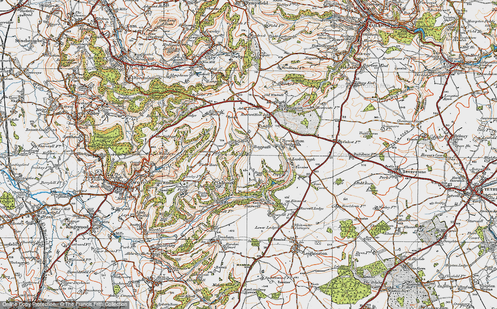 Old Map of Bagpath, 1919 in 1919
