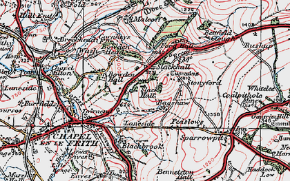 Old map of Bagshaw in 1923